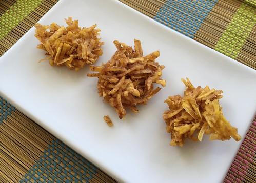 Receta de cocina Arañitas de plátano