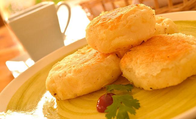 Tortillas de yuca con queso