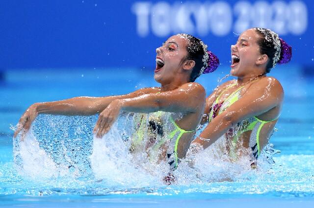Así fue la rutina de las colombianas en natación artística en los Juegos Olímpicos de Tokio