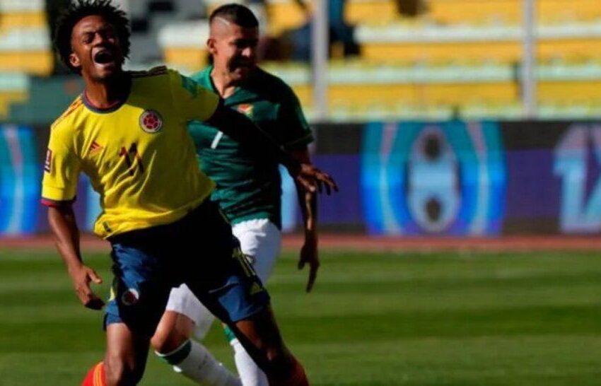 La Selección Colombia rescató un empate 1-1 en Bolivia